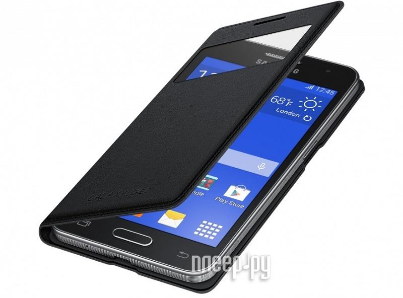Аксессуар Чехол Samsung SM-G355 Galaxy Core 2 S-View EF-CG355BBEGRU Black  Pleer.ru  2110.000