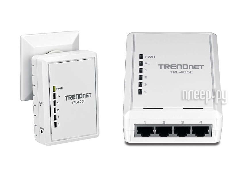 Powerline адаптер TRENDnet TPL-405E  Pleer.ru  2206.000