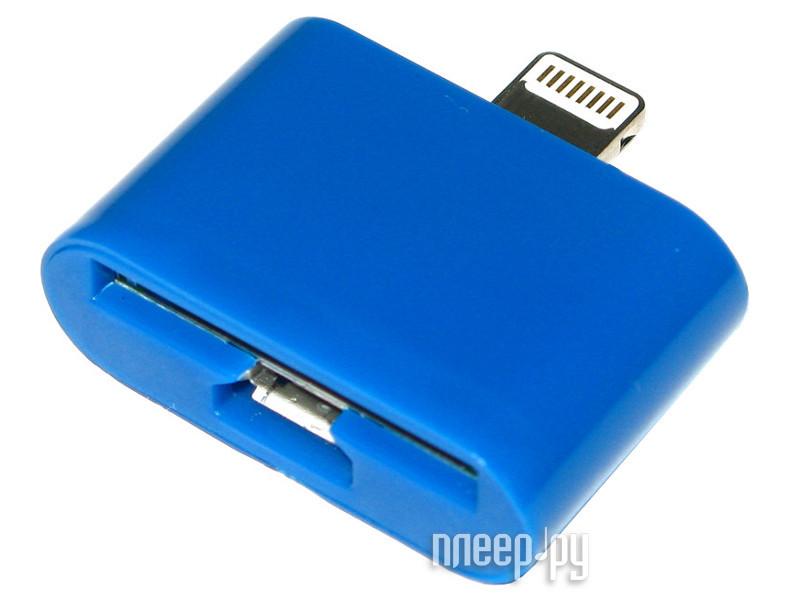 Аксессуар Prolife micro USB/iPhone 4 на iPhone 5 4063864 Blue  Pleer.ru  589.000