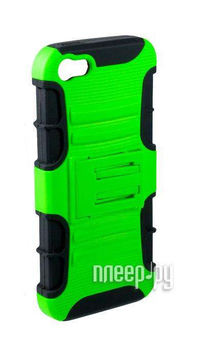 Аксессуар Чехол-накладка Partner с подставкой for iPhone 5 / 5S Green  Pleer.ru  155.000