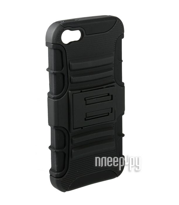 Аксессуар Чехол-накладка Partner с подставкой for iPhone 5 / 5S Black  Pleer.ru  155.000