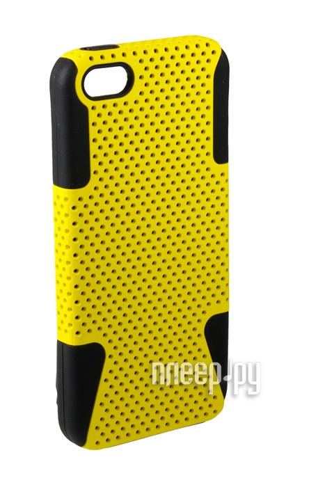 Аксессуар Чехол-накладка Partner сетка for iPhone 5 / 5S Yellow  Pleer.ru  135.000
