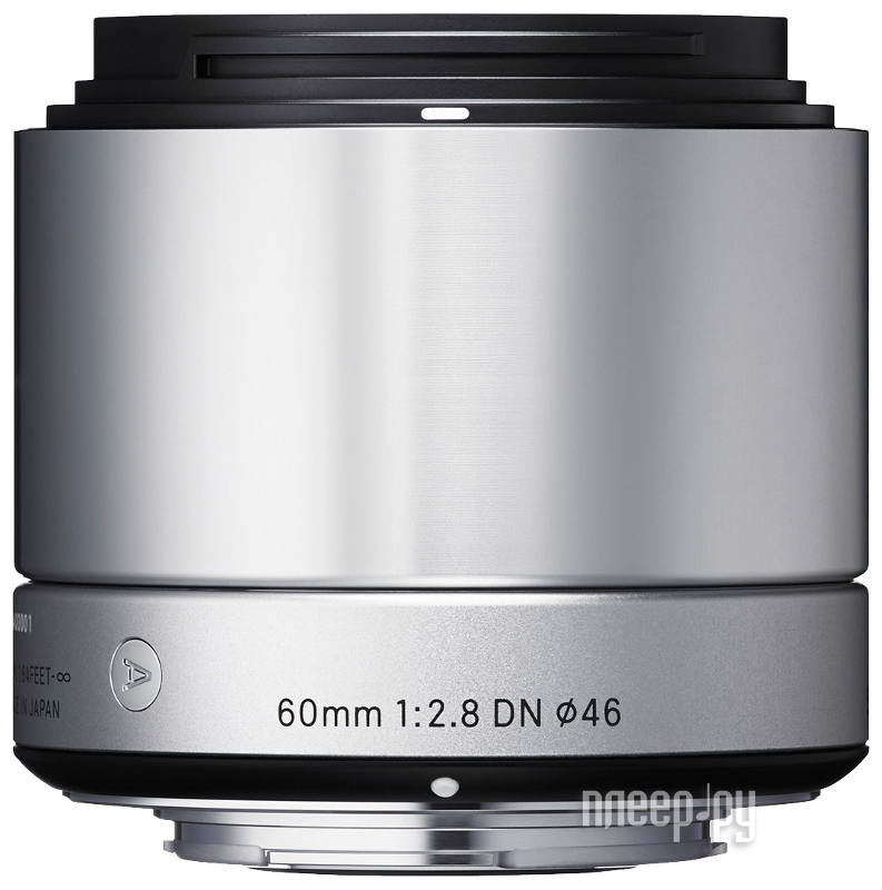 Объектив Sigma AF 60 mm F/2.8 DN A for Micro Four Thirds Silver  Pleer.ru  6908.000
