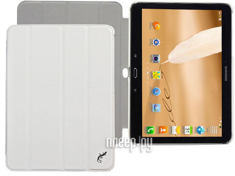 Аксессуар Чехол Samsung Galaxy Tab 4 10.1 G-Case Slim Premium White GG-372  Pleer.ru  1149.000