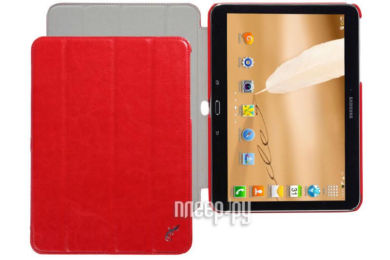 Аксессуар Чехол Samsung Galaxy Tab 4 10.1 G-Case Slim Premium Red GG-371  Pleer.ru  1149.000