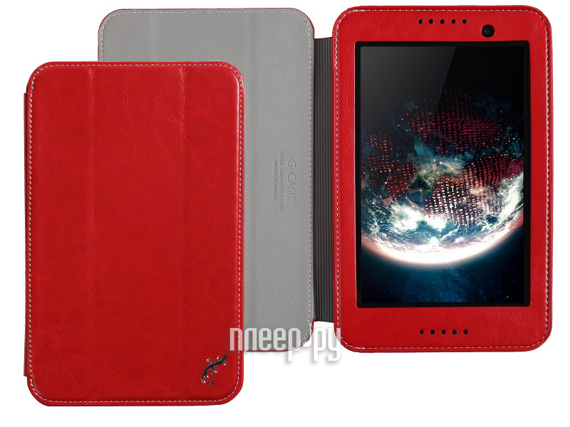 Аксессуар Чехол Lenovo IdeaTab A3500 А7-50 G-Case Executive Red GG-381  Pleer.ru  1100.000
