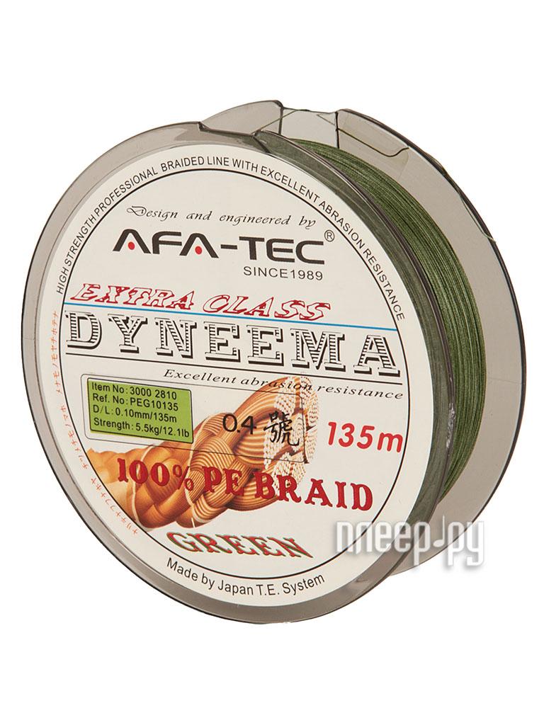 Шнур плетёный AFA-TEC Dyneema PEG10135 135m Green  Pleer.ru  645.000