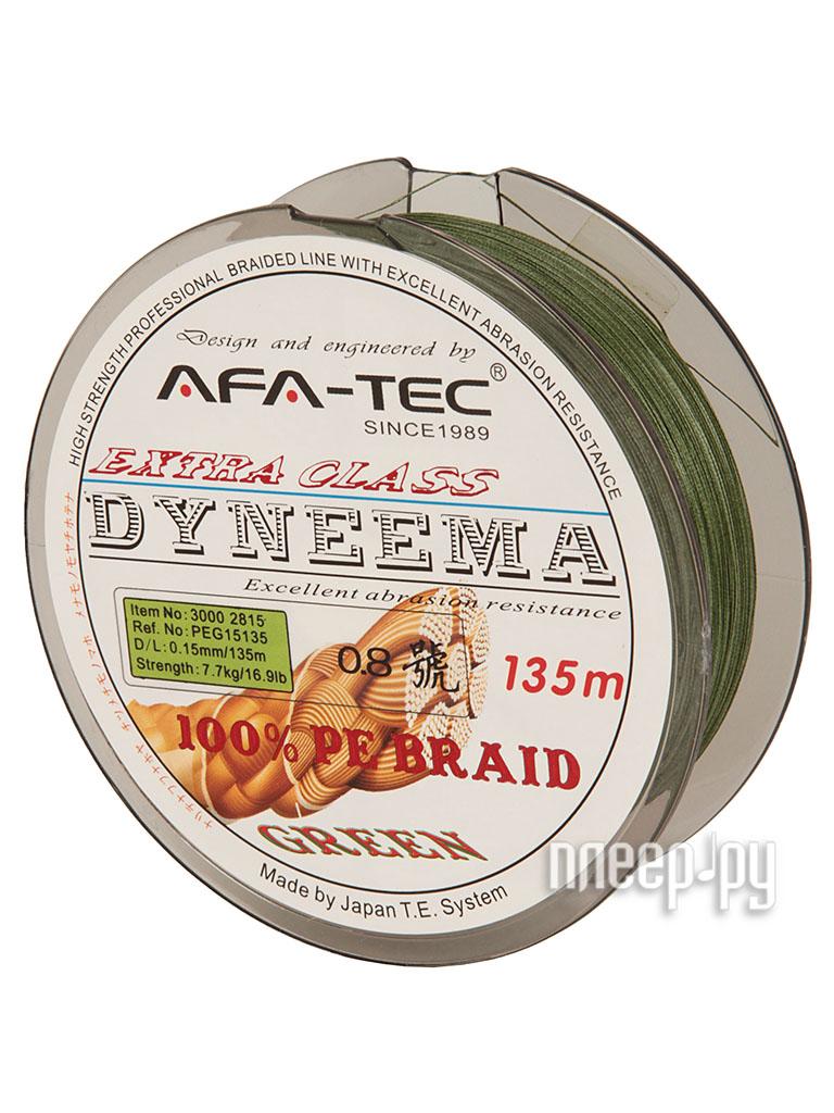 Шнур плетёный AFA-TEC Dyneema PEG15135 135m Green  Pleer.ru  439.000
