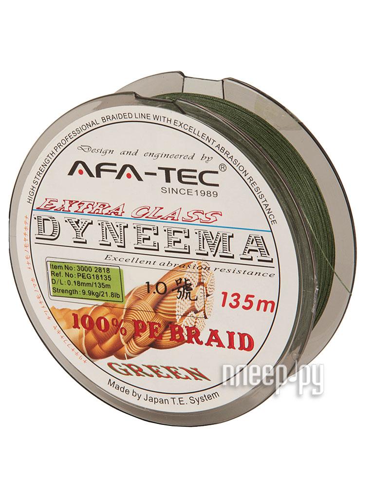 Шнур плетёный AFA-TEC Dyneema PEG18135 135m Green  Pleer.ru  645.000