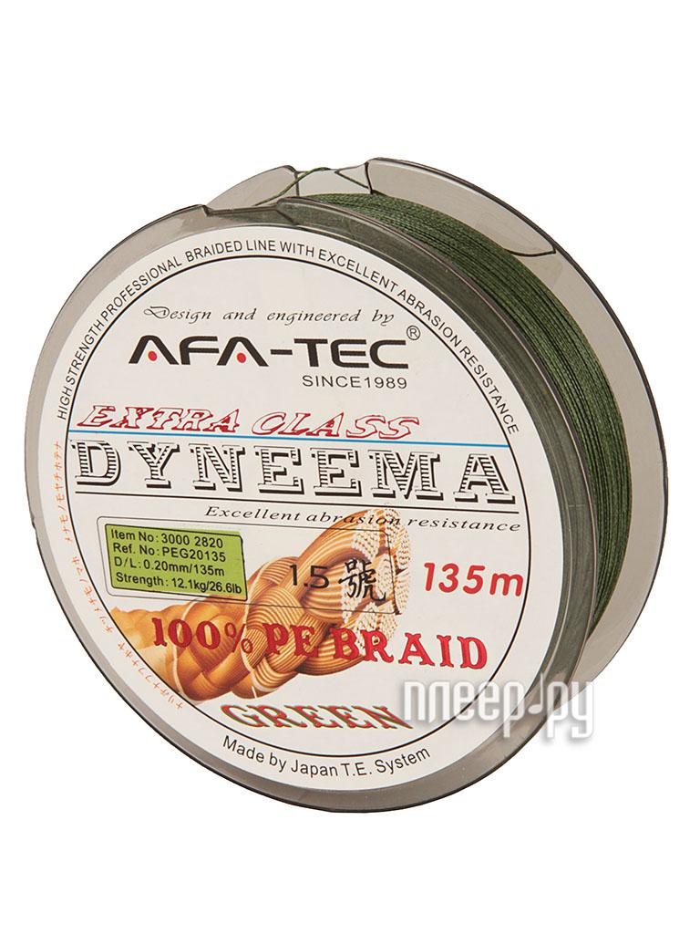 Шнур плетёный AFA-TEC Dyneema PEG20135 135m Green  Pleer.ru  645.000