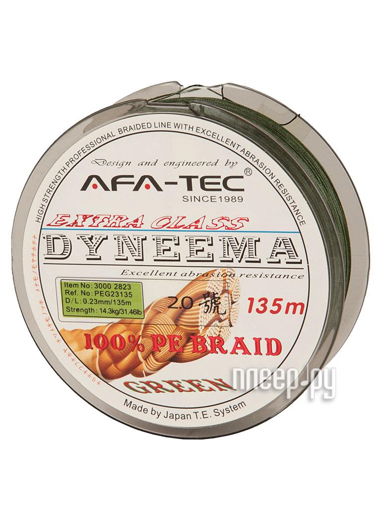 Шнур плетёный AFA-TEC Dyneema PEG23135 135m Green  Pleer.ru  645.000