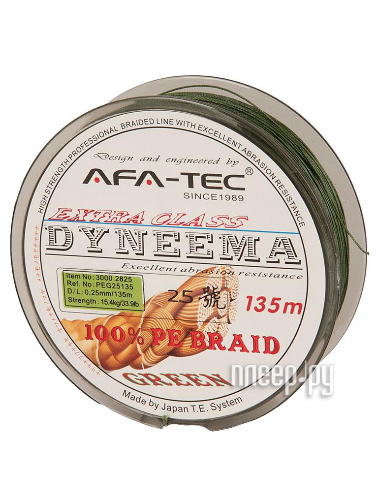 Шнур плетёный AFA-TEC Dyneema PEG25135 135m Green  Pleer.ru  645.000