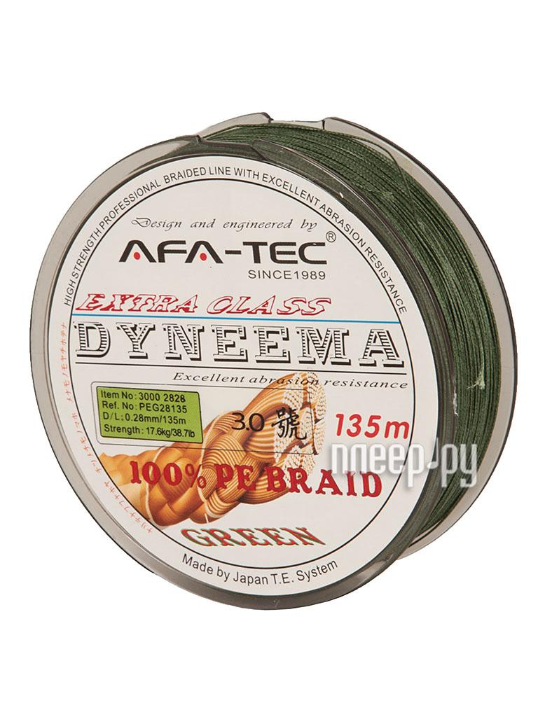 Шнур плетёный AFA-TEC Dyneema PEG28135 135m Green  Pleer.ru  660.000