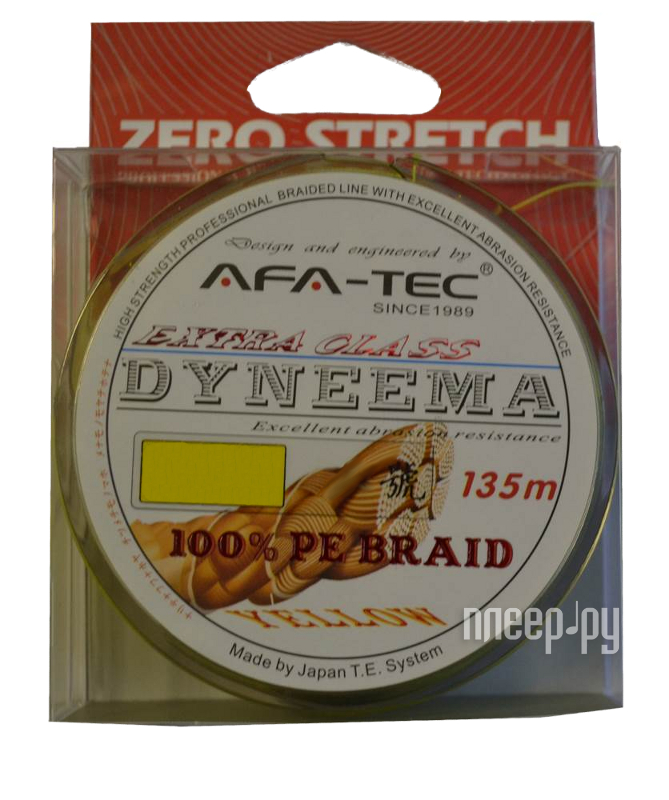 Шнур плетёный AFA-TEC Dyneema PEY28135 135m Yellow  Pleer.ru  645.000