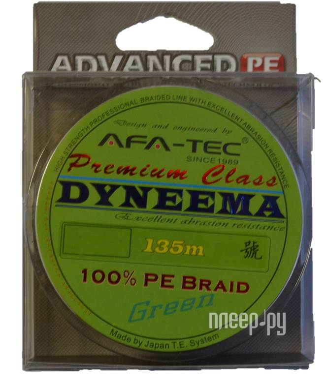 Шнур плетёный AFA-TEC Dyneema PFG08135 135m Green  Pleer.ru  495.000