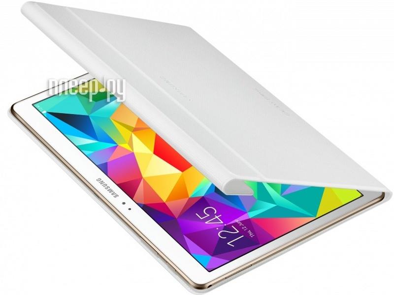 Аксессуар Чехол Samsung Galaxy Tab S 10.5 SM-T800 / SM-T805 Book Cover EF-BT800BWEGRU White  Pleer.ru  2366.000