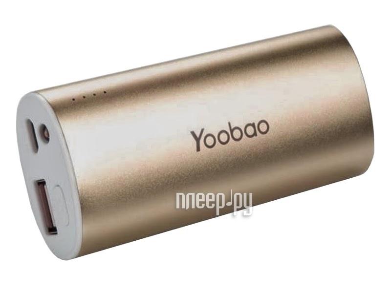 Аккумулятор Yoobao YB-6012 5200mAh Gold