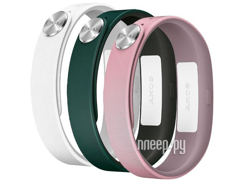 Умный браслет Sony Wrist Strap SWR110 S for SmartBand SWR10 White/Light-Pink/Dark-Green 1280-9640  Pleer.ru  804.000