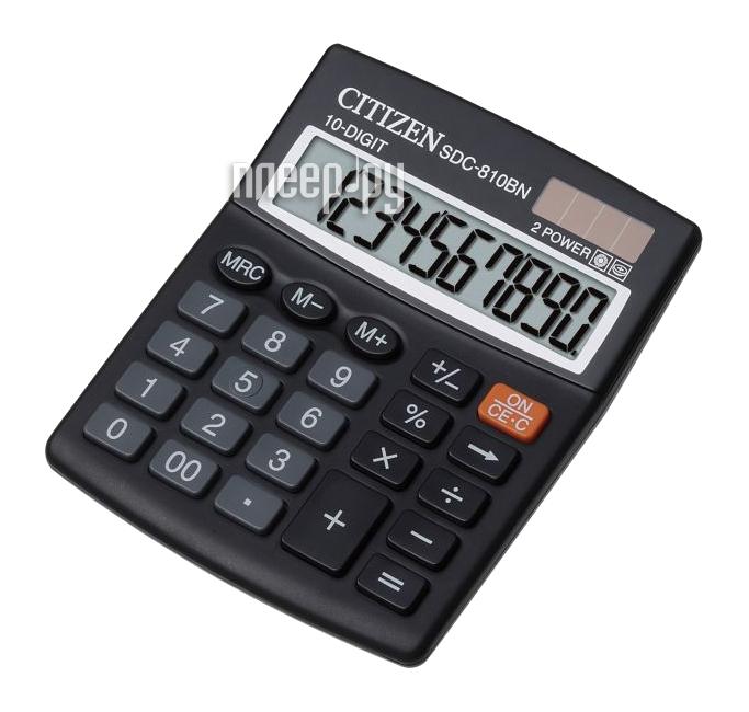 Калькулятор Citizen SDC-810BN Black