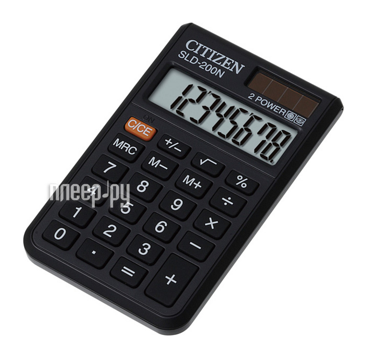 Калькулятор Citizen SLD-200N Black - двойное питание