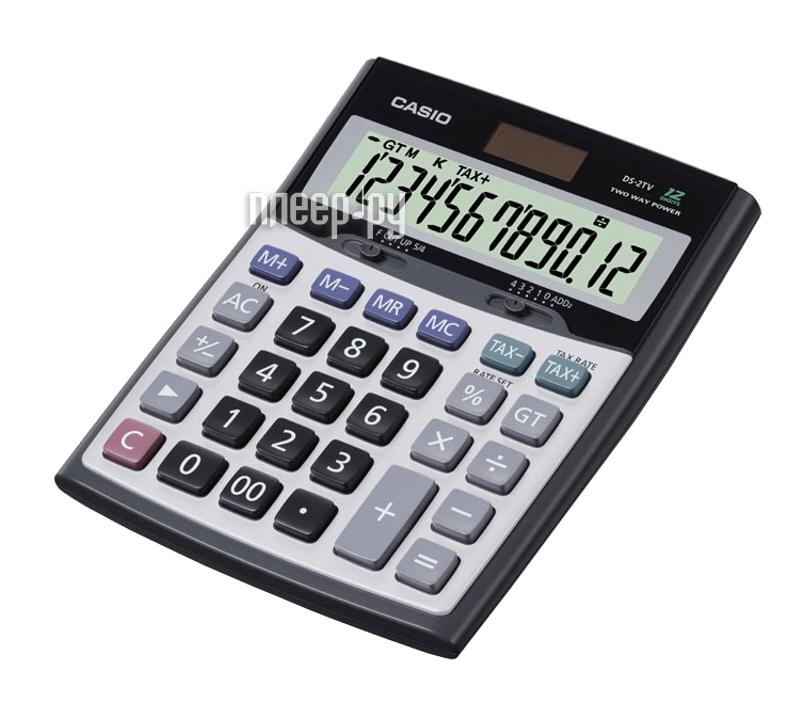 Калькулятор Casio DS-2TV-S-EH Grey - двойное питание  Pleer.ru  1021.000