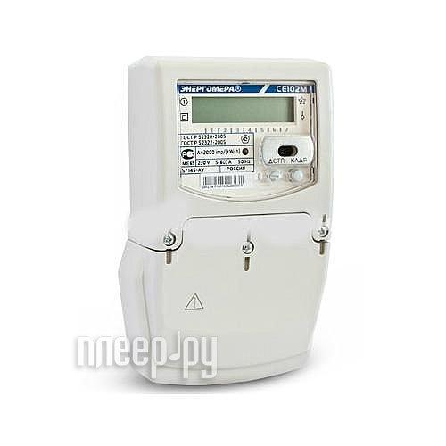 Счетчик электроэнергии Энергомера СЭ1-60/5 Т4 Щ ЖК СЕ102MS7 145JV 230В  Pleer.ru  1237.000