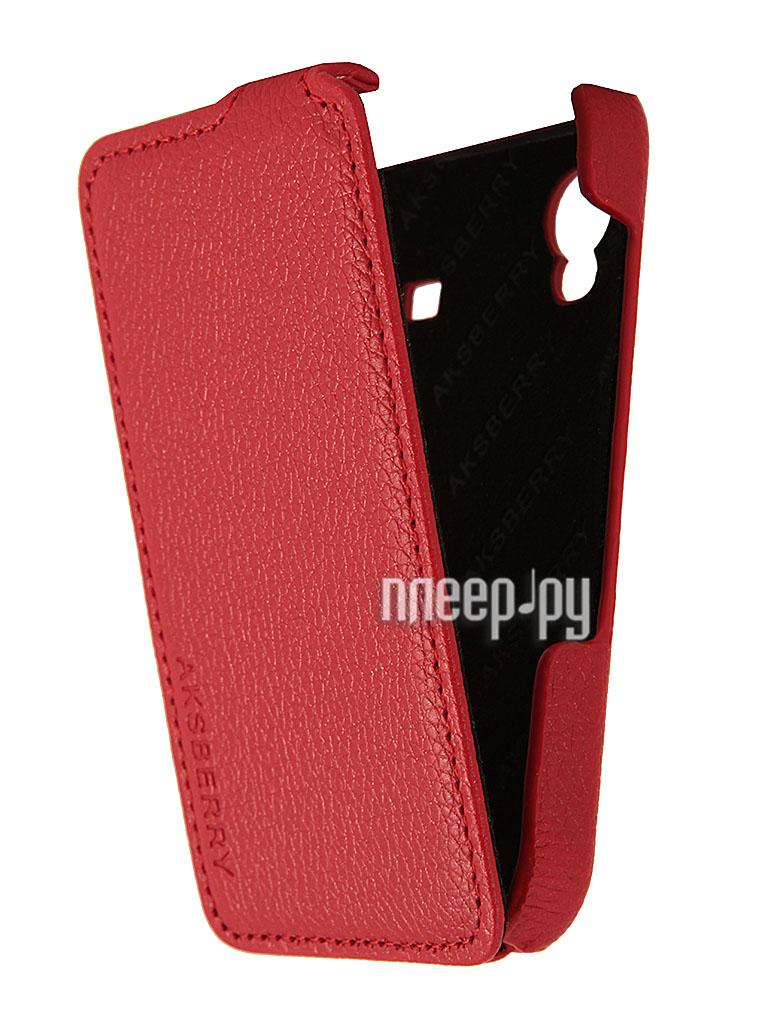 Аксессуар Чехол Samsung Galaxy Ace GT-S5830 Aksberry Red  Pleer.ru  1129.000