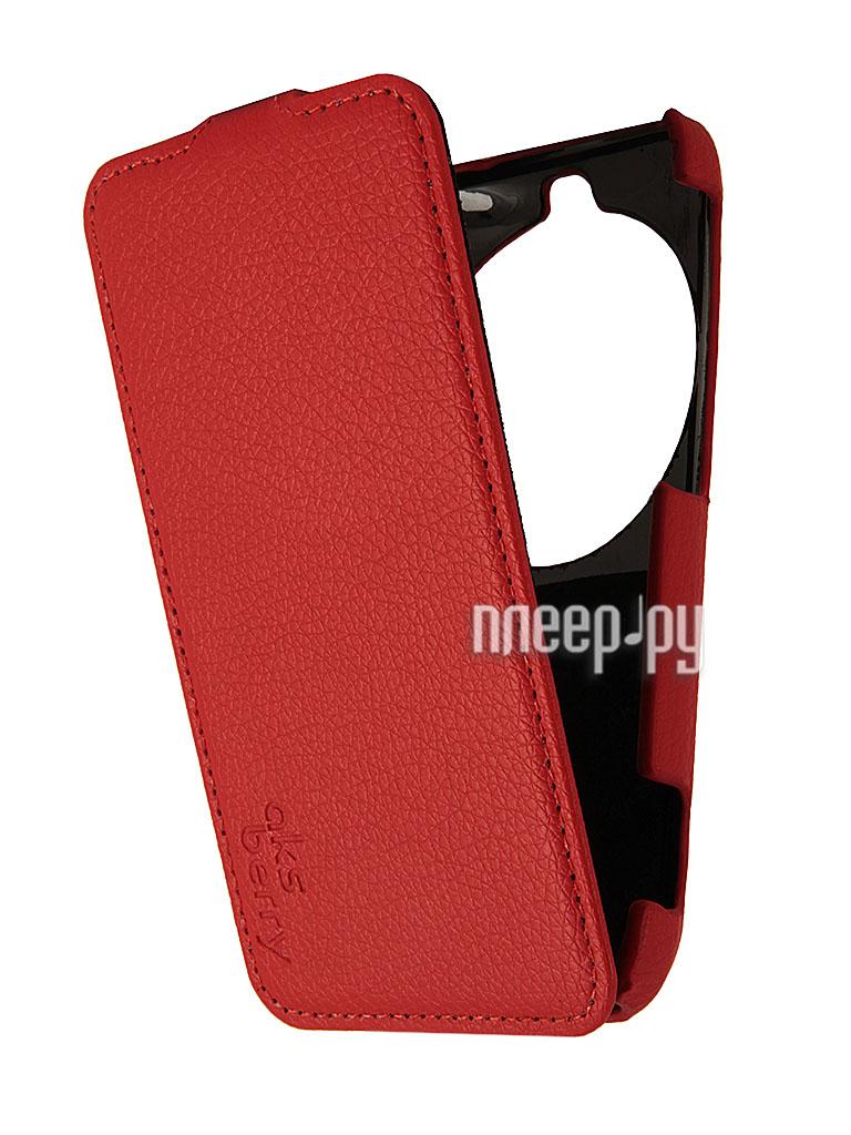 Аксессуар Чехол Samsung Galaxy K Zoom Aksberry Red  Pleer.ru  1129.000