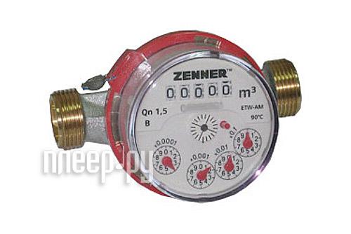 Счетчик воды Zenner Minomess ETW-N Qn1.5 Ду15-ГВ 70002584  Pleer.ru  775.000