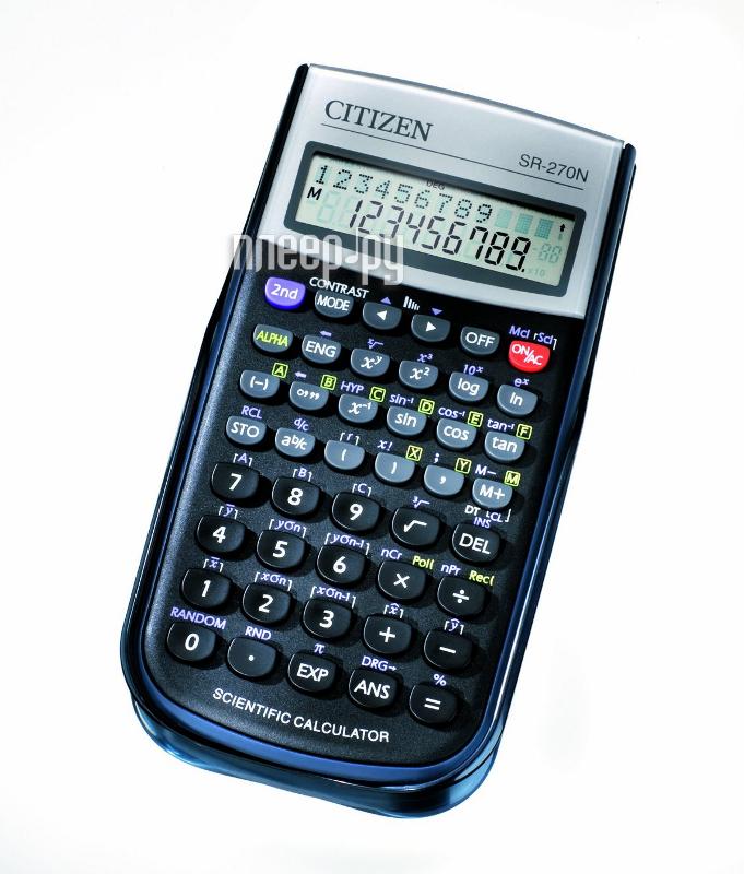 Калькулятор Citizen SR-270N Black - питание от батареи  Pleer.ru  388.000