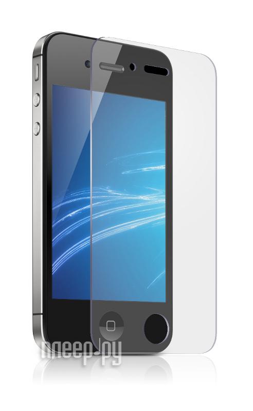 Аксессуар Стекло защитное Media Gadget Tempered Glass 0.33mm for iPhone 4 / 4S закругленные края TG001  Pleer.ru  669.000