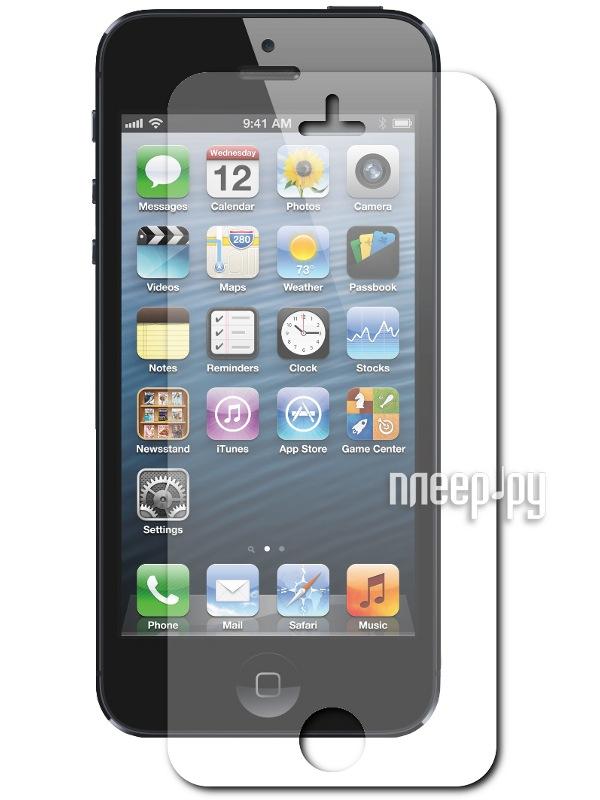 Аксессуар Стекло защитное Media Gadget Tempered Glass 0.33mm for iPhone 5 / 5S закругленные края TG002  Pleer.ru  669.000