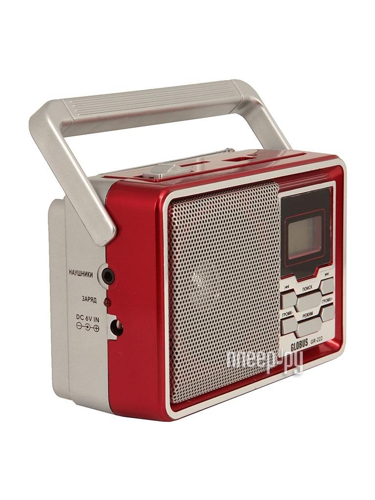 Радиоприемник Globus GR-222 Red  Pleer.ru  454.000