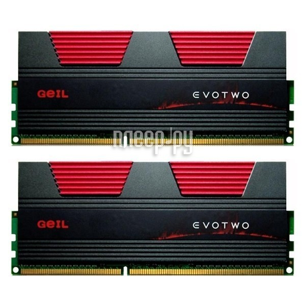 Модуль памяти GeIL EVO Two DDR3 1866MHz DIMM Dual Channel - 16Gb KIT (2x8Gb) GET316GB1866C9DC  Pleer.ru  7584.000