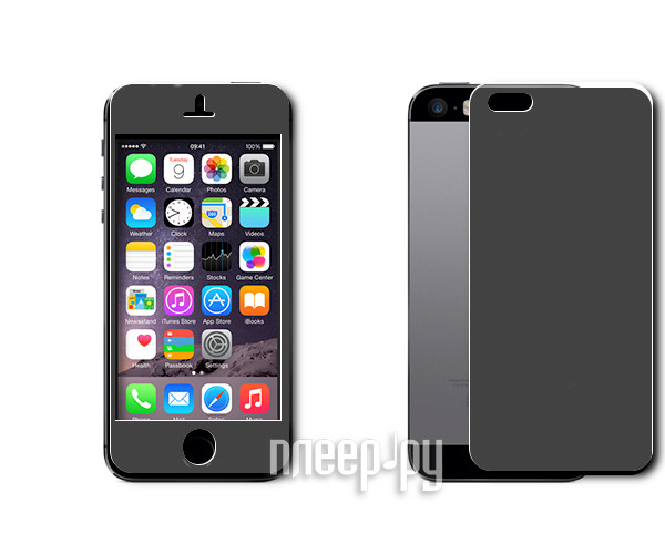 Аксессуар Защитная пленка Ainy for iPhone 5 Black  Pleer.ru  565.000