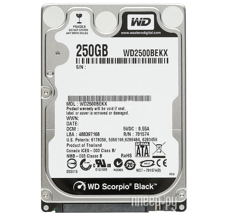 Жесткий диск 250Gb - Western Digital WD Black WD2500BEKX  Pleer.ru  1807.000