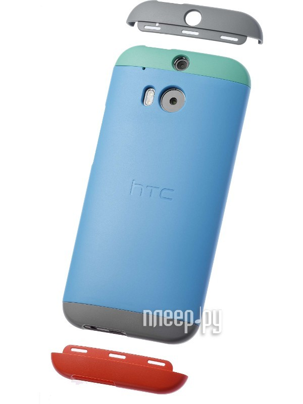 Аксессуар Чехол HTC One mini 2 HC C971 Blue  Pleer.ru  1289.000
