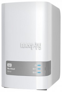 Сетевое хранилище Western Digital My Cloud Mirror 4Tb WDBZVM0040JWT