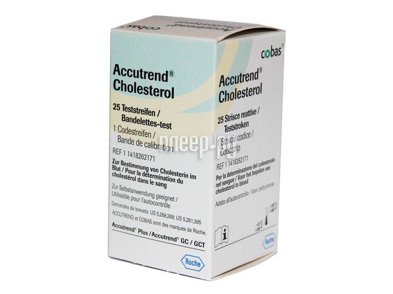 Аксессуар Accutrend Cholesterol №25 тест-полоски