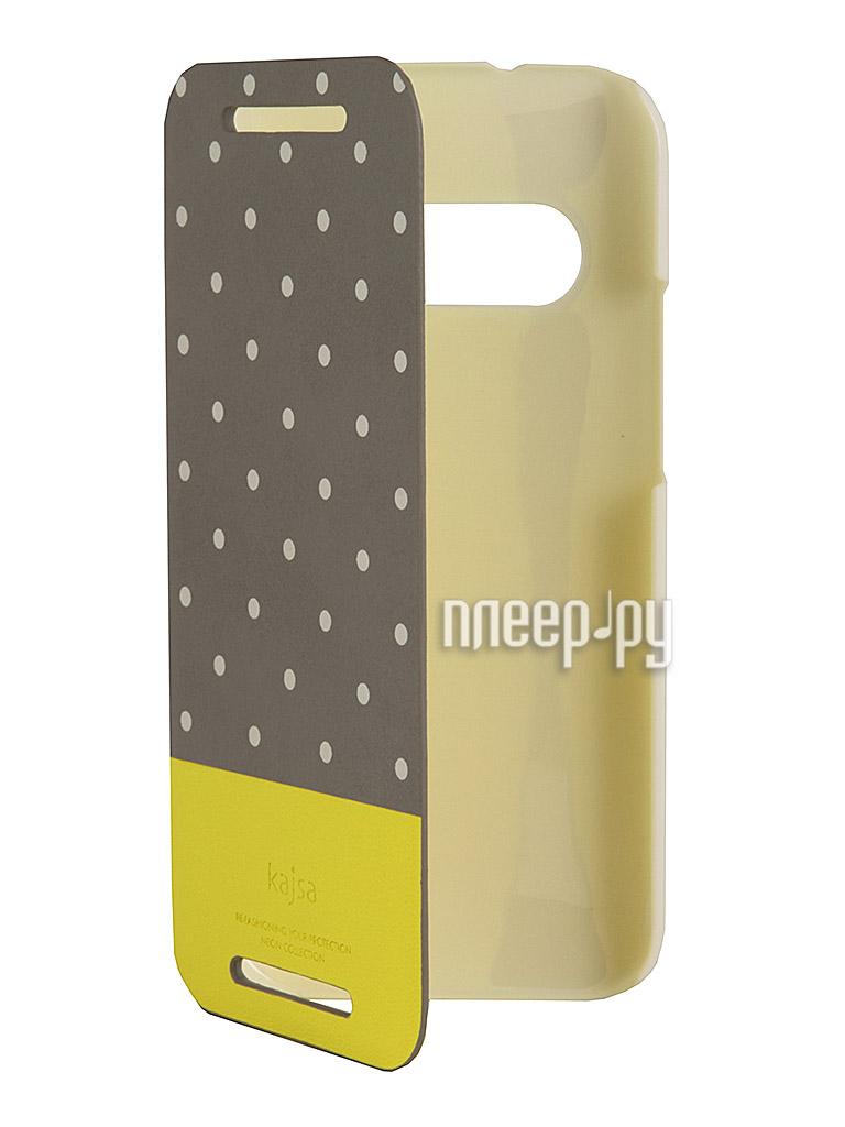 Аксессуар Чехол for HTC One mini 2 Kajsa Neon Collection Glow-in-the-Dark Dot Folio Grey 3-NDM-HM2-GR  Pleer.ru  1389.000