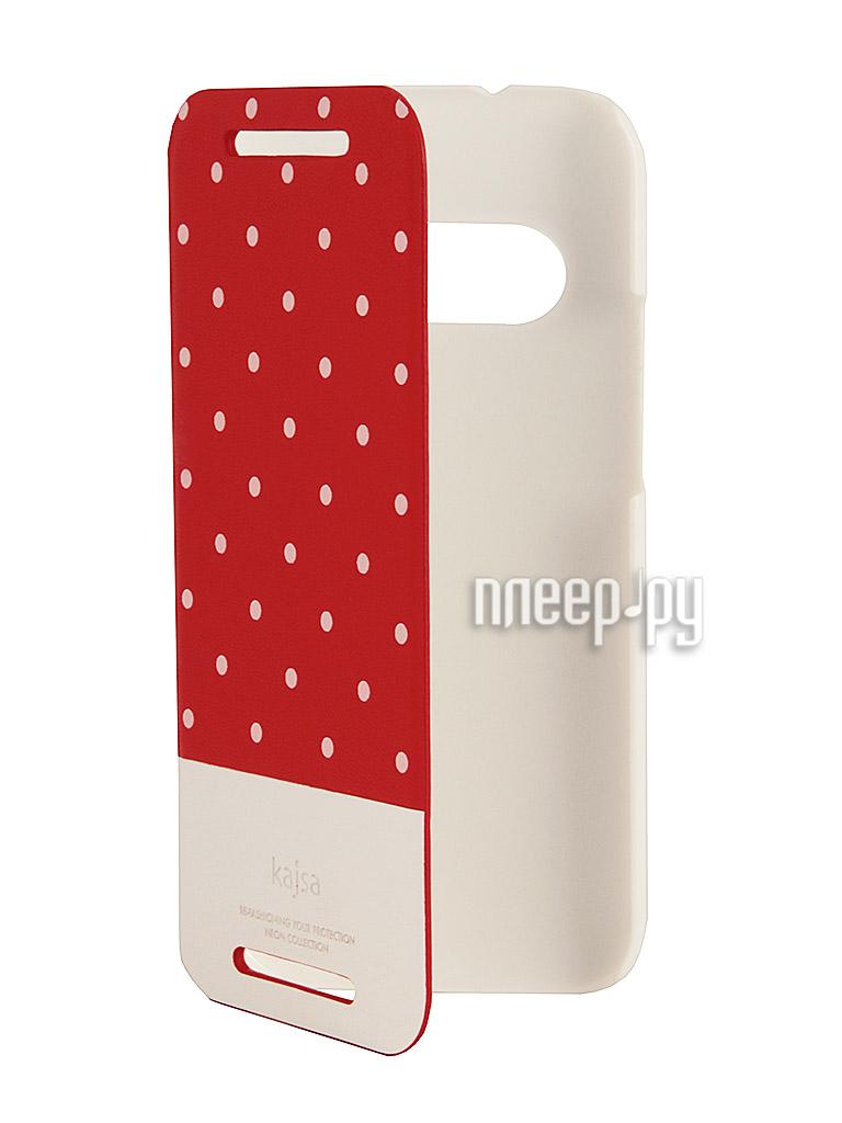 Аксессуар Чехол for HTC One mini 2 Kajsa Neon Collection Glow-in-the-Dark Dot Folio Red 3-NDM-HM2-RD  Pleer.ru  1389.000