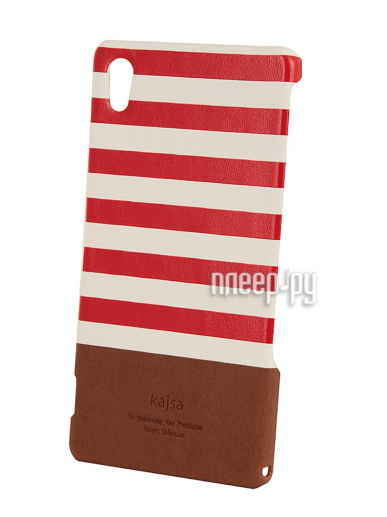 Аксессуар Чехол Sony Xperia Z2 Kajsa Resort Collection Stripe Red 3-RS-Z2-RD  Pleer.ru  1290.000