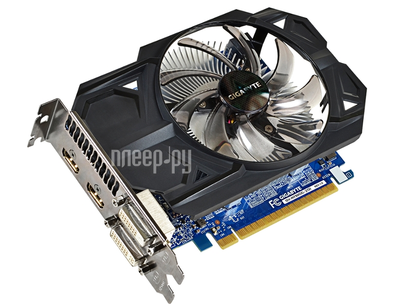 Видеокарта Gigabyte GeForce GTX 750 1059Mhz PCI-E 3.0 2048Mb 5000Mhz 128 bit 2xDVI 2xHDMI HDCP GV-N750OC-2GI  Pleer.ru  4715.000