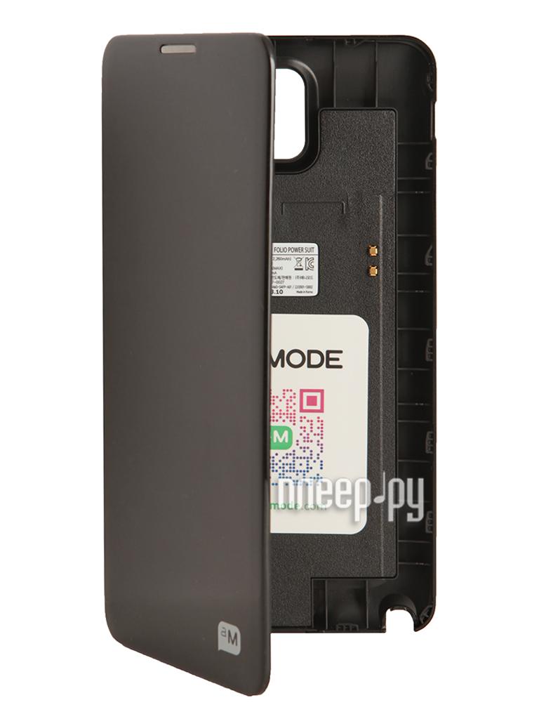 Аксессуар Чехол-аккумулятор Samsung SM-N900 Galaxy Note 3 Anymode 2260mAh Black F-DAFP000RBK  Pleer.ru  1798.000