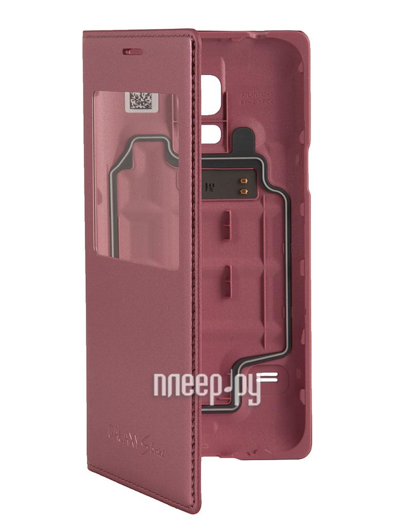 Аксессуар Чехол Samsung SM-G800 Galaxy S5 mini S View EF-CG800BPEGRU Pink  Pleer.ru  2097.000