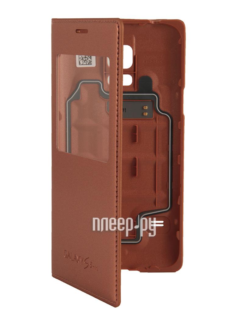 Аксессуар Чехол Samsung SM-G800 Galaxy S5 mini S View EF-CG800BFEGRU Gold  Pleer.ru  2097.000