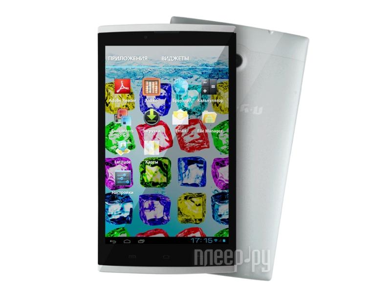 Планшет iRU Pad Master M718G 1Gb 16Gb SSD 3G Silver Mediatek MT8382 1.5 GHz/1024Mb/16Gb/3G/Wi-Fi/Bluetooth/GPS/Cam/7.0/1280x800/Android 4.2 897498  Pleer.ru  5177.000