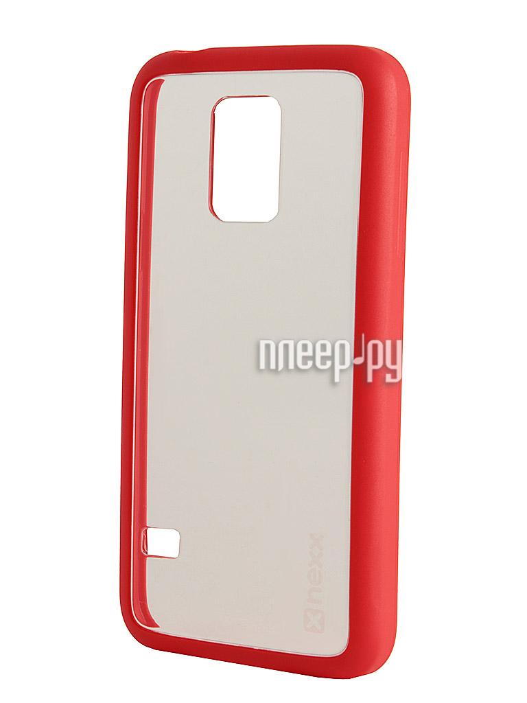 Аксессуар Чехол Samsung SM-G800 Galaxy S5 mini NEXX Zero поликарбонат Red MB-ZR-218-RD  Pleer.ru  1039.000