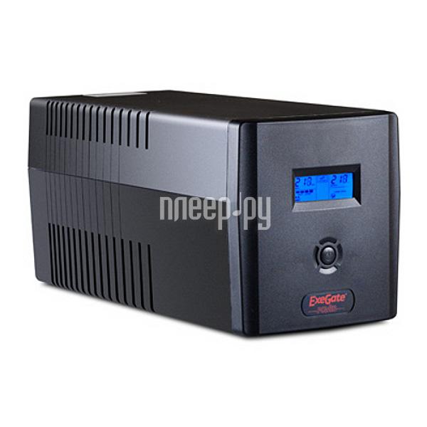 Источник бесперебойного питания ExeGate Smart LCD 1500VA 900W Black ULB-1500  Pleer.ru  5196.000