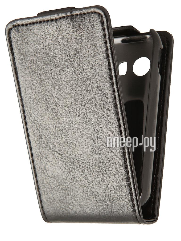 Аксессуар Чехол Samsung GT-S5360/Y/i509 Galaxy Y SkinBox Flip Black T-F-SS5360  Pleer.ru  1000.000